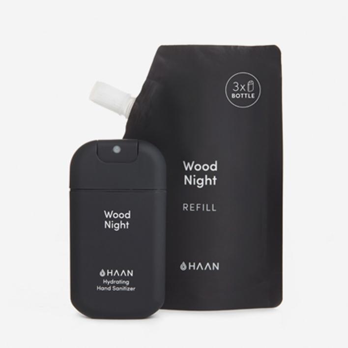 HAAN Pocket + Refill Handdesinfektionsmittel - Wood Night (30 + 100 ml)