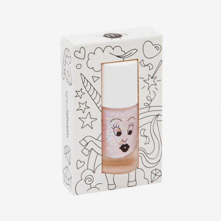 Nailmatic Kids Polly - Glittery Pink Waterbased Nagellack