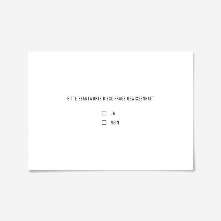 Knallbraun Postkarte Gewissenhaft