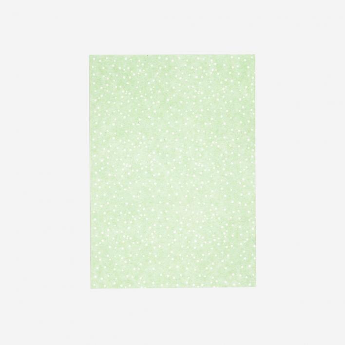 Perlenfischer Postkarte Wilde Punkte Grün