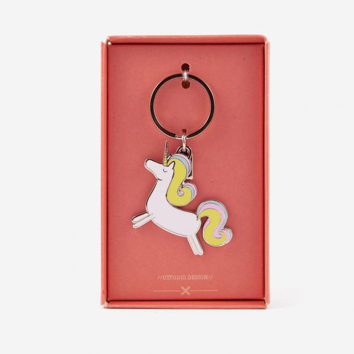 U Studio Prancing Unicorn Keyring
