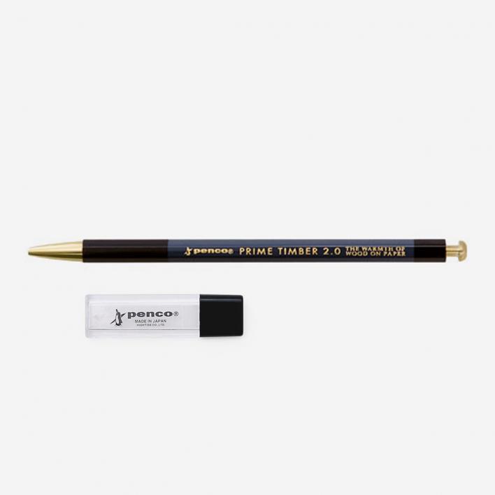 Penco Prime Timber Brass Black Fallminenbleistift