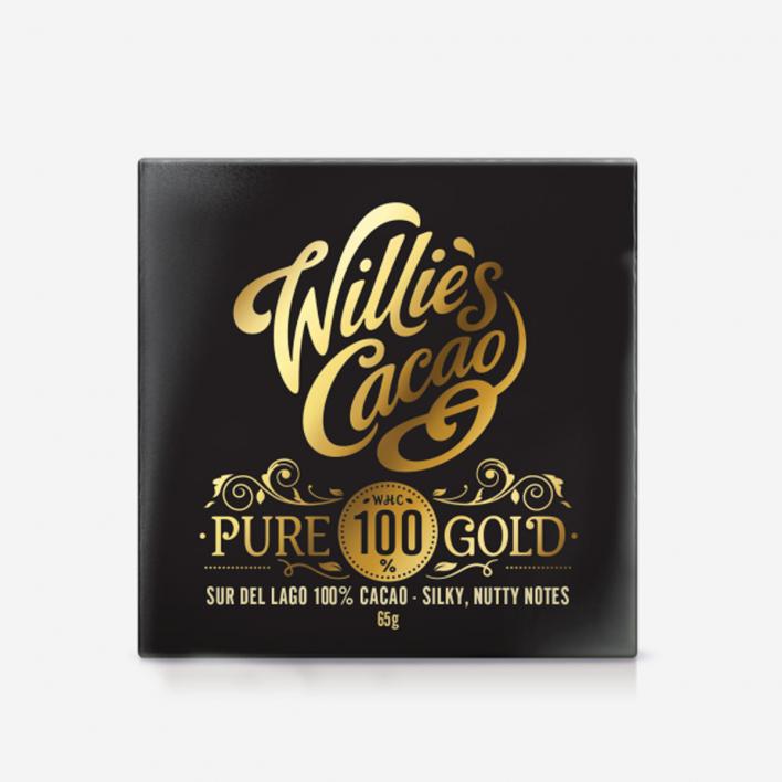 Willie's Cacao Pure Gold Sur Del Lago 100% Schokolade 40g