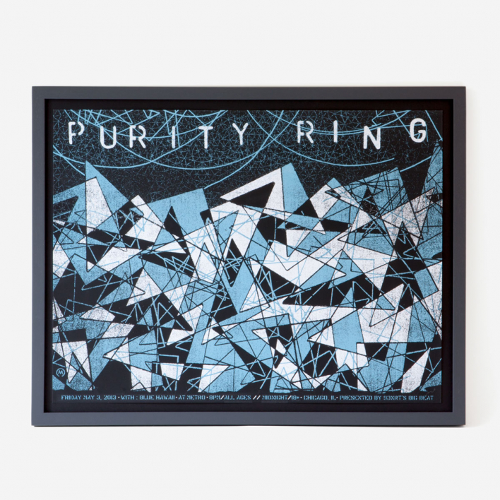 Nate Duval Purity Ring Screenprint Gigposter