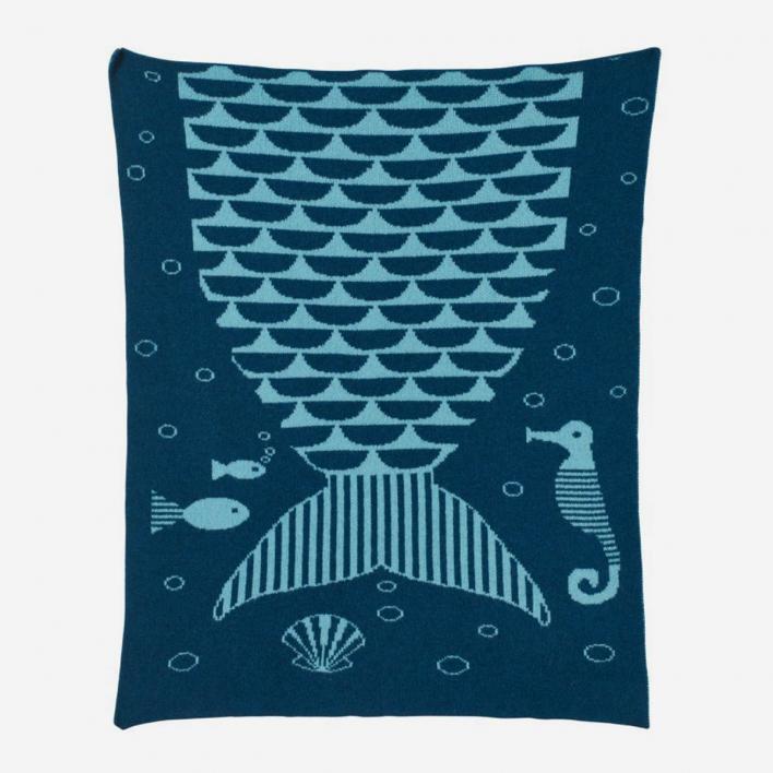 Donna Wilson Mermaid Mini Blanket - Babydecke aus 100% Schafswolle