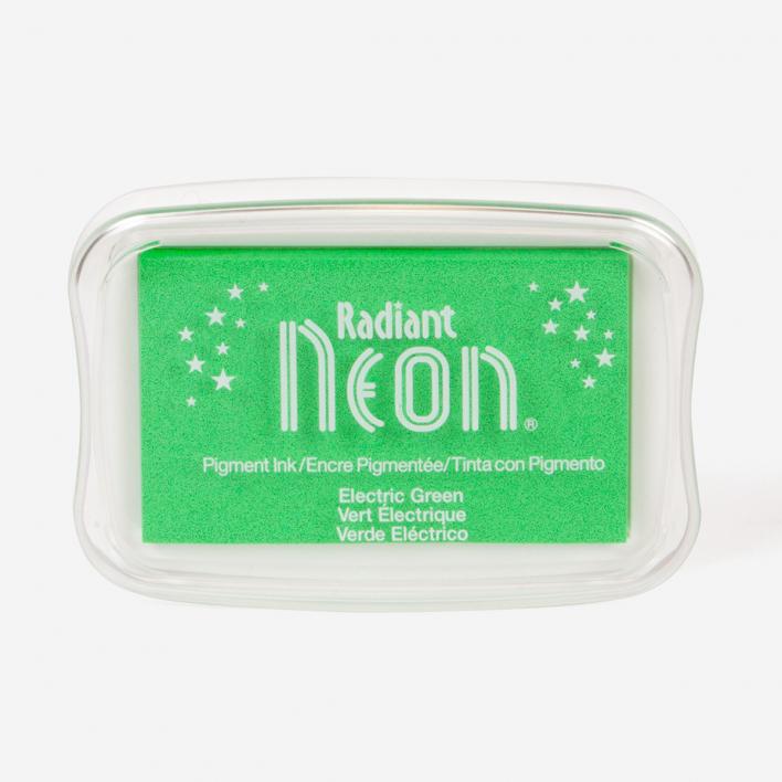 Tsukineko Radiant Neon Electric Green Stempelkissen