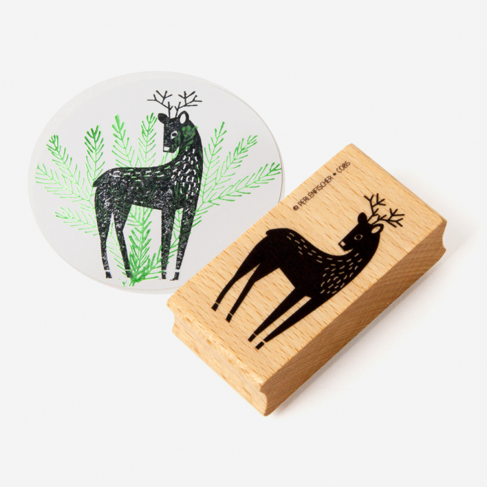 Perlenfischer Deer Stamp