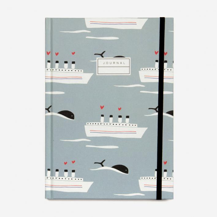 Monsieur Papier Reise-Journal Schiff