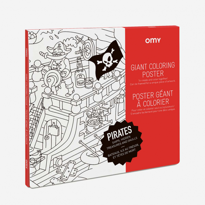 OMY Giant Coloring Poster Pirates