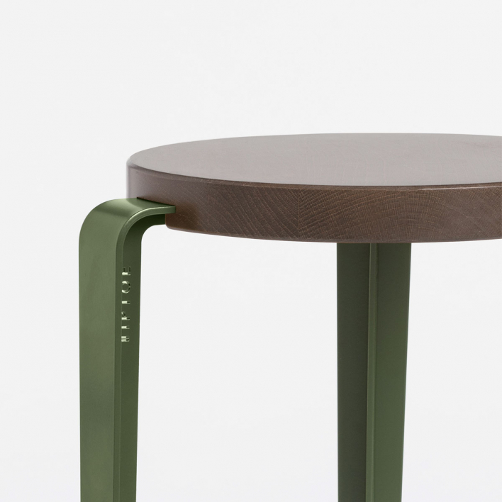 Tiptoe BIG LOU Bar Stool Rosemary Green Tinted Oakwood Rosemary Green | Tinted Oakwood
