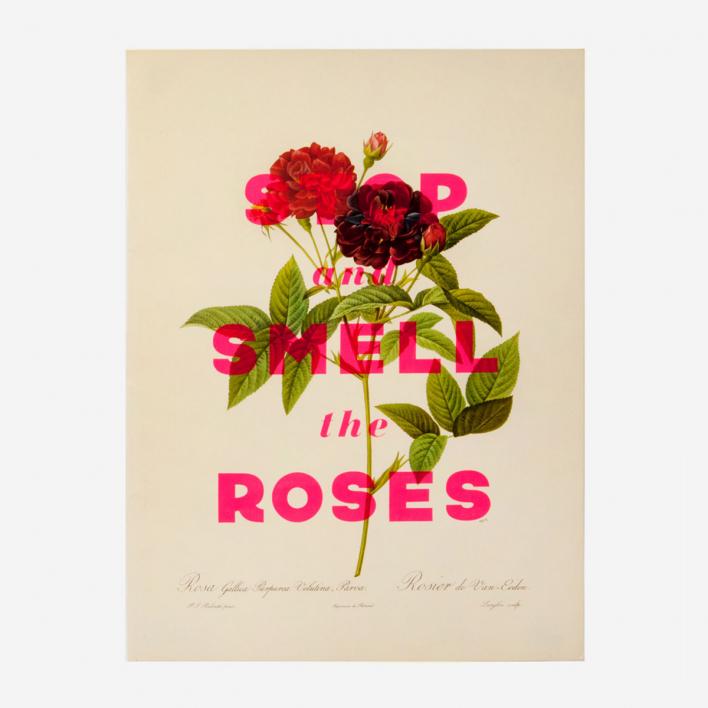 Basil & Ford Roses - Lucky Dips Siebdruck