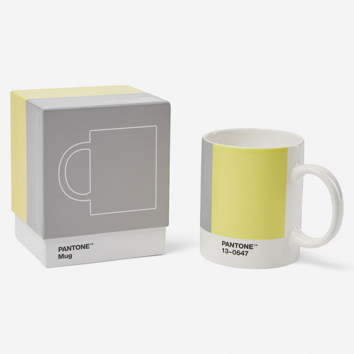 Pantone Pantone™ Color of the Year 2021 Ultimate Gray 17-5104 & Illuminating 13-0647 Porcelain Mug