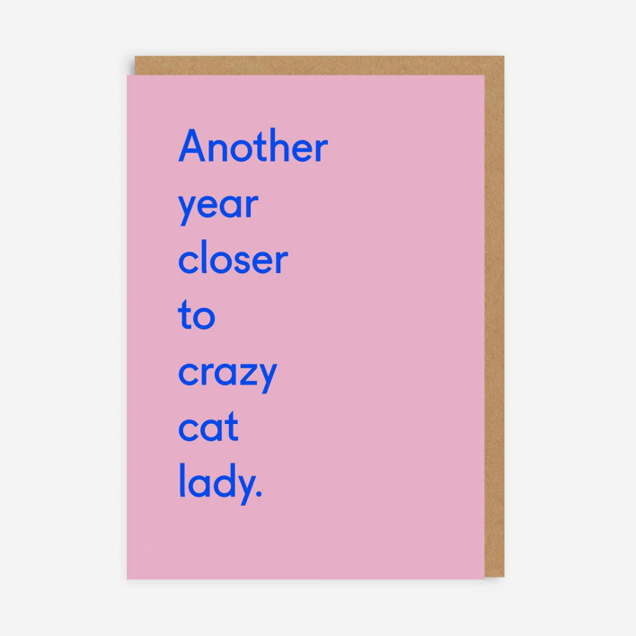Ohh Deer Crazy Cat Lady Greeting Card