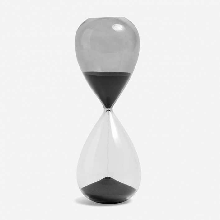 HAY Sanduhr Time 30 Minuten - Black