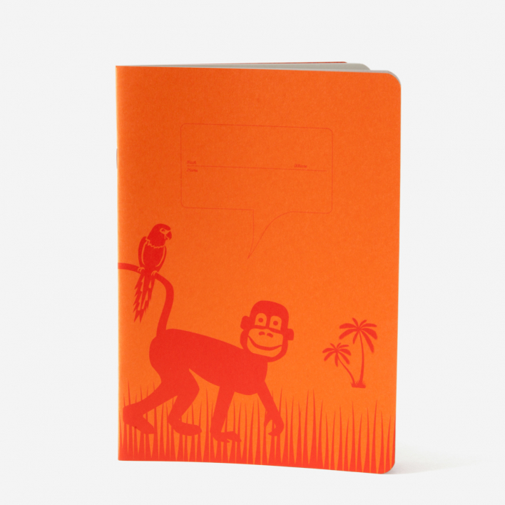 Himbeerheftchen Schulheft Affe