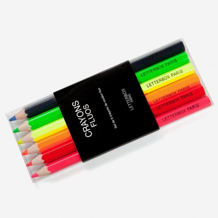 Letterbox Set Neon-Buntstifte