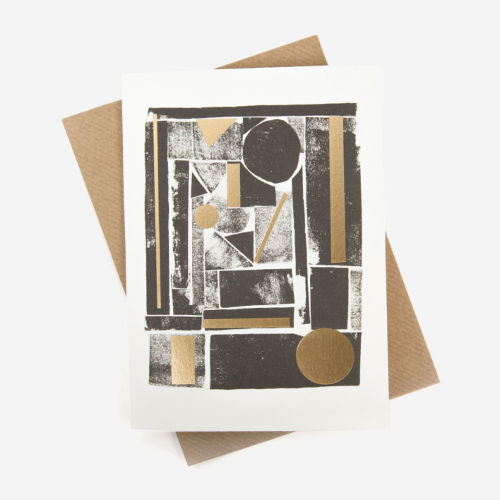Pressed and Folded Shapes #2 Greeting Card