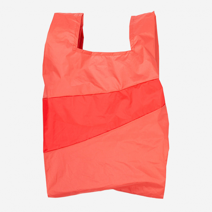 Susan Bijl Shoppingbag L Salmon & Red Alert