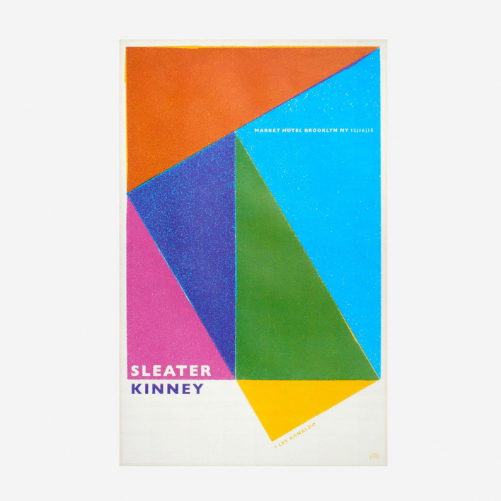 Rainbow Sleater Kinney Screenprint Gigposter