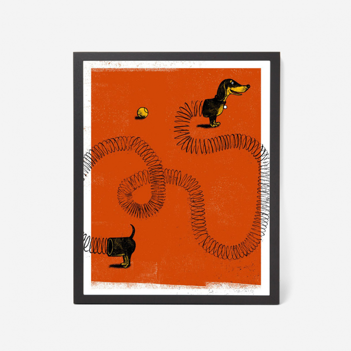 Factory 43 Slinky Dog Screenprint