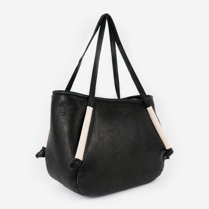 maravillas bags Soller Leather Shopper Bag Schwarz