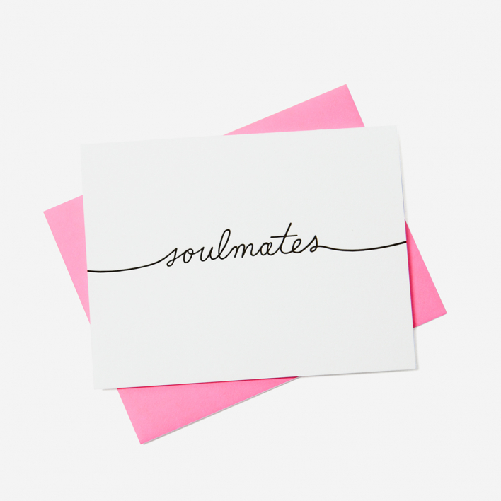 Ashkahn Soulmates Grußkarte