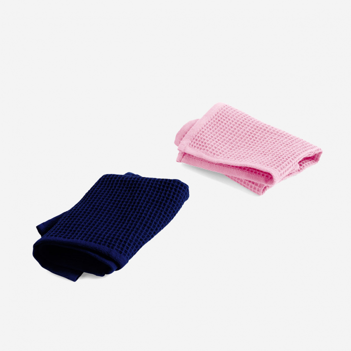 HAY Spültücher Waffle Cool Rose & Midnight Blue 2er Set