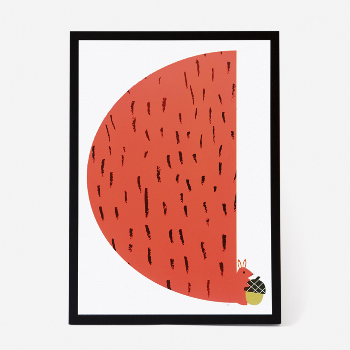 Scout Editions Squirrel Screenprint