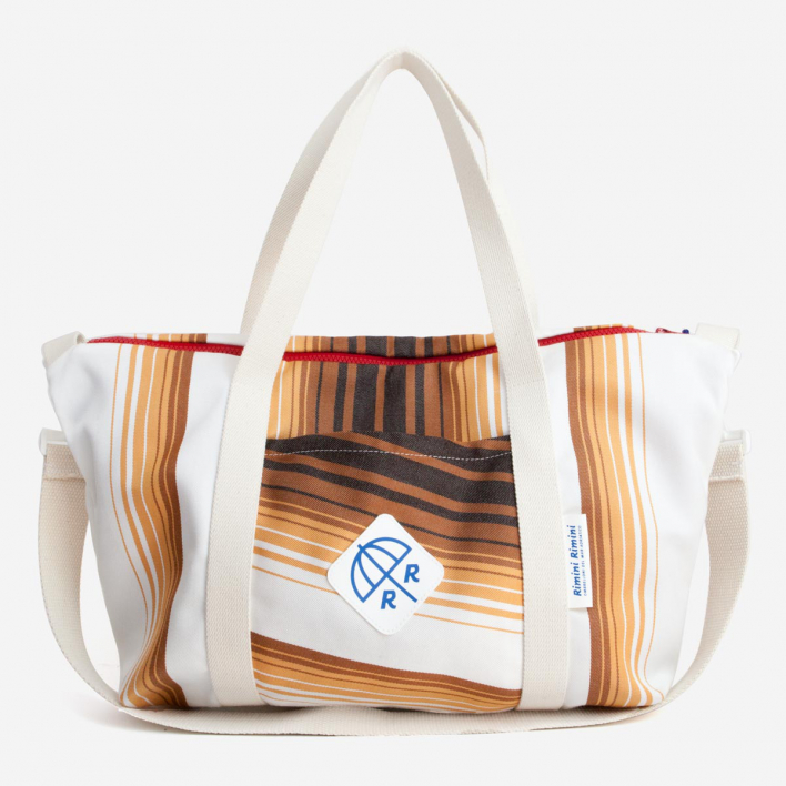 Rimini Rimini Bags Strandtasche Pinarella Brown Ochre White