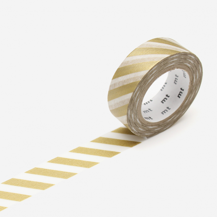 mt Stripe Gold 2 Masking Tape