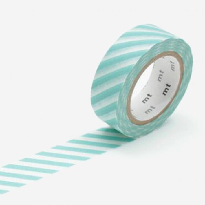 mt Stripe Mint Masking Tape