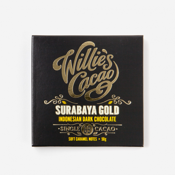 Willie's Cacao Surabaya Gold Indonesian Dark 69% Schokolade 50g