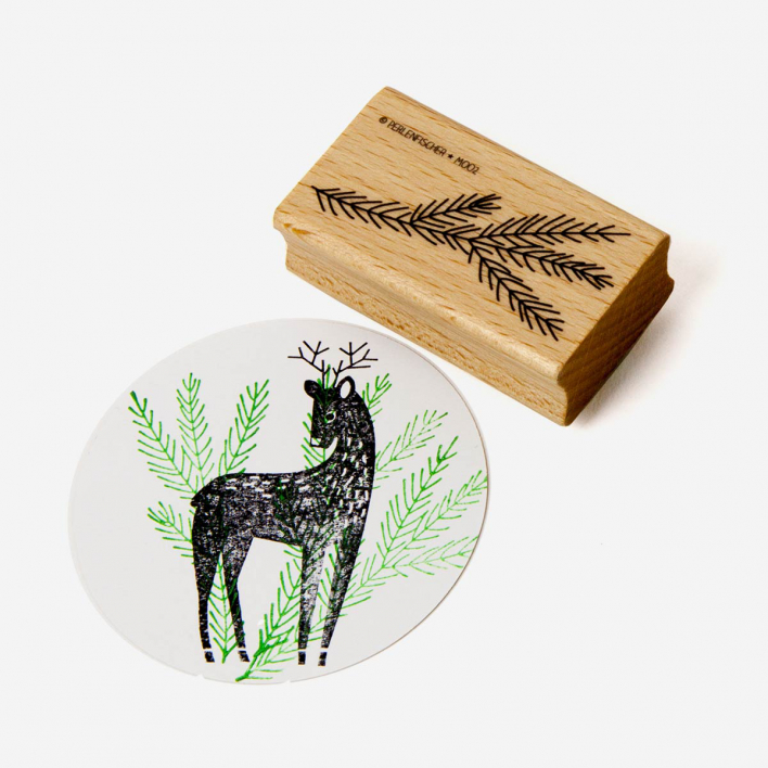 Perlenfischer Fir Branch Stamp