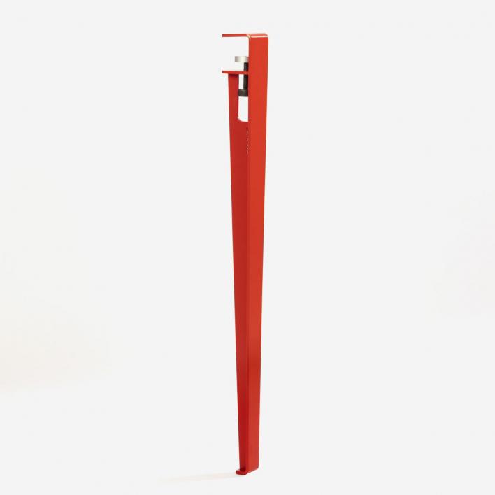Tiptoe Tischbein für Schreibtisch / Esstisch – 75 cm Terracotta Red
