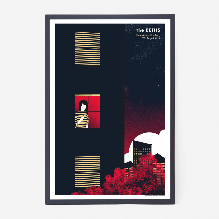 Zum Heimathafen The Beths Screenprint Gigposter Anthracite Frame Anthracite Frame