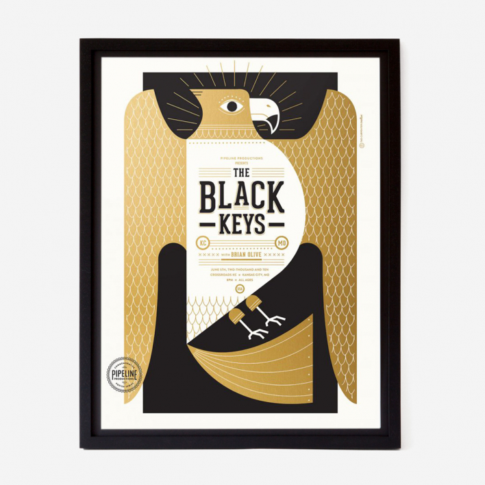 Tad Carpenter The Black Keys Gigposter