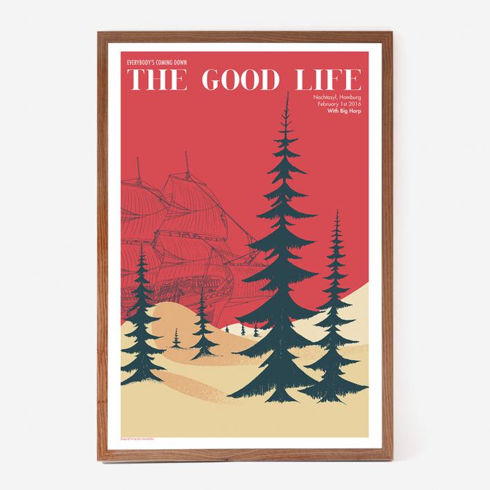 Zum Heimathafen The Good Life Gigposter