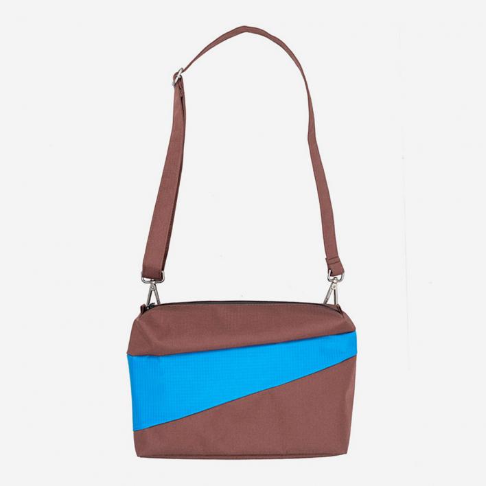 Susan Bijl The New Bum Bag M Brown & Sky Blue