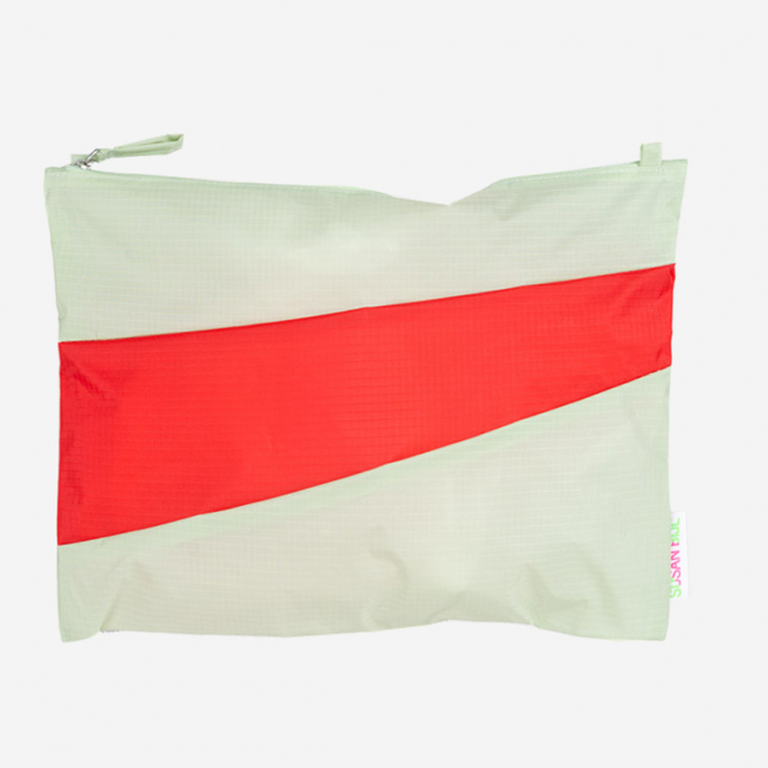 Susan Bijl The New Pouch L Pistachio & Redlight