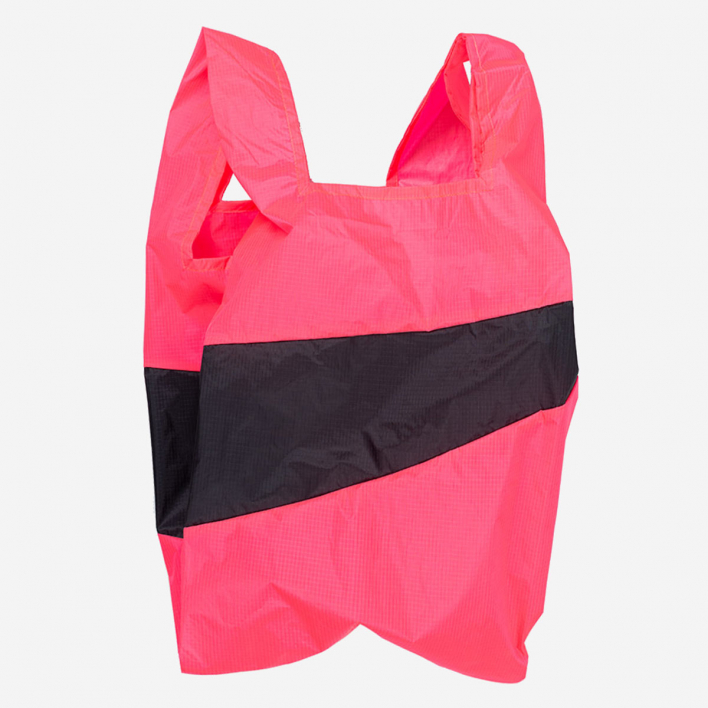 Susan Bijl The New Shoppingbag L Fluo Pink & Black