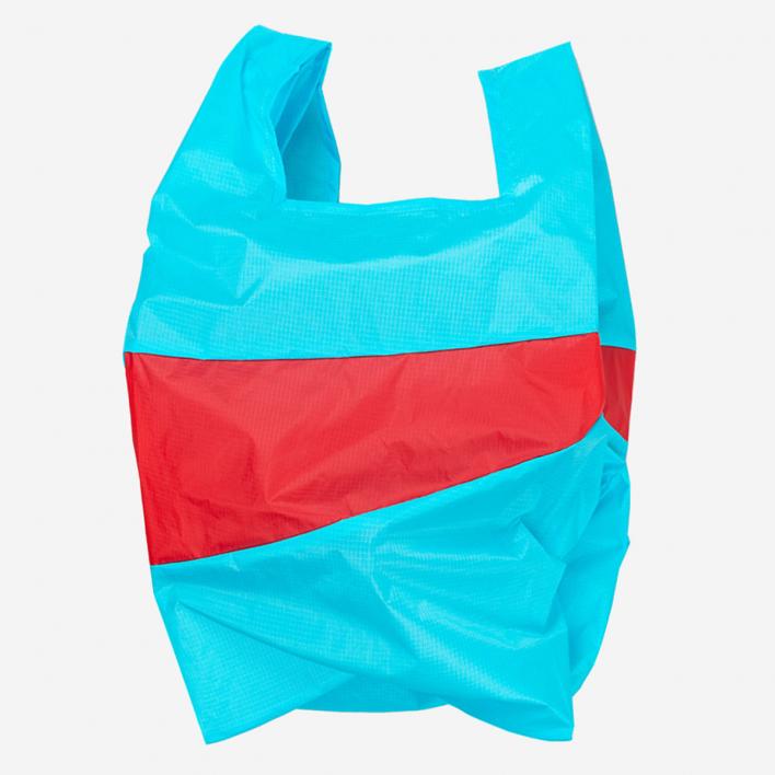 Susan Bijl The New Shoppingbag L Keyblue & Redlight