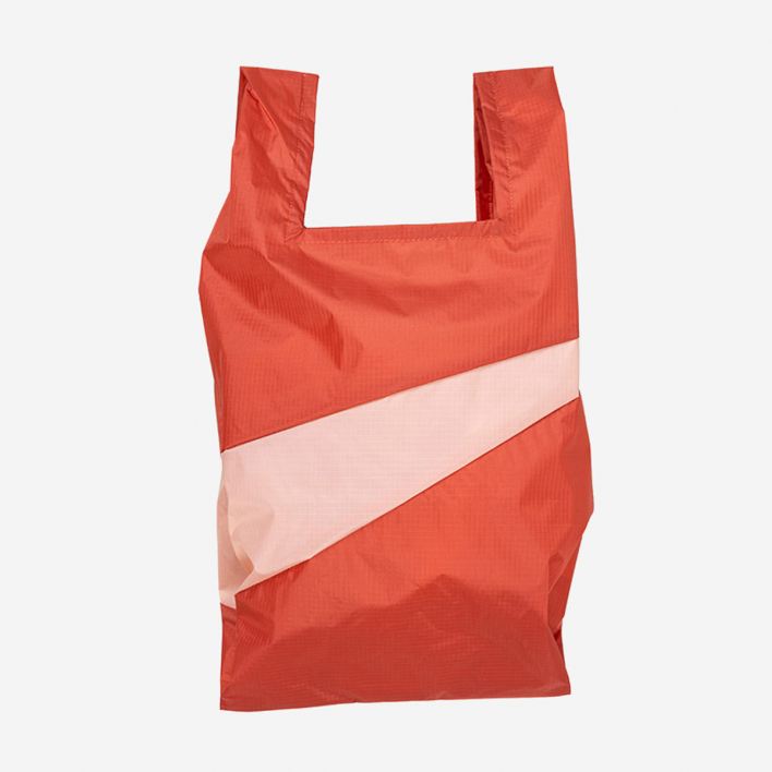 Susan Bijl The New Shoppingbag M Warm Grey & Electric Blue