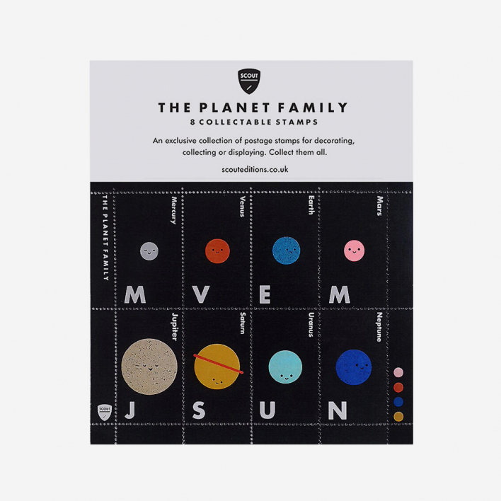 Scout Editions The Planet Family Deko-Briefmarken