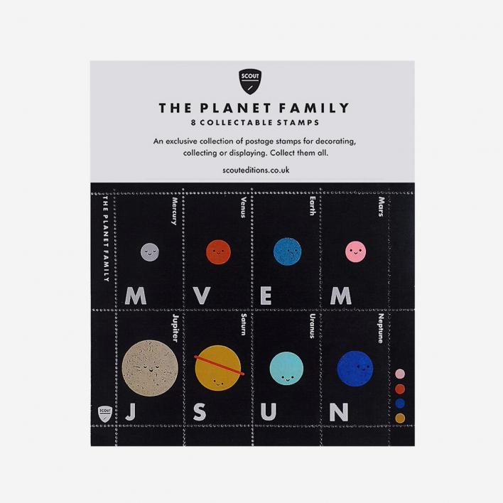 Scout Editions The Planet Family Deko-Briefmarken