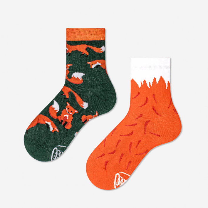Many Mornings The Red Fox Kids Socks 23-26 23-26