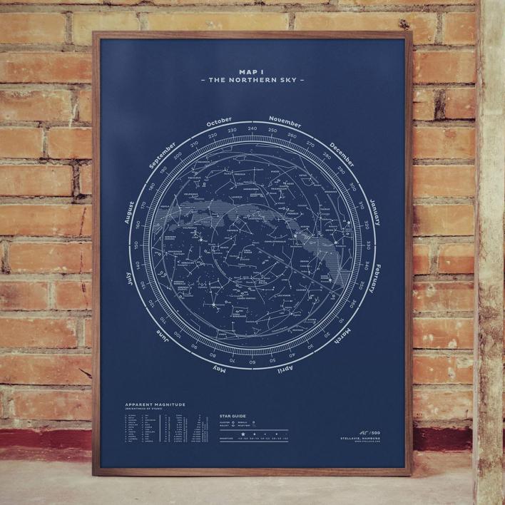 Stellavie The Sky Nightblue 70 × 100 cm Siebdruck