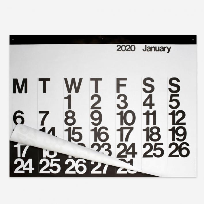 Massimo Vignelli The Stendig Calendar 2020 - Wandkalender