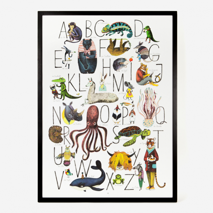 Eyes Wide Open Tier- Alphabet Kunstdruck