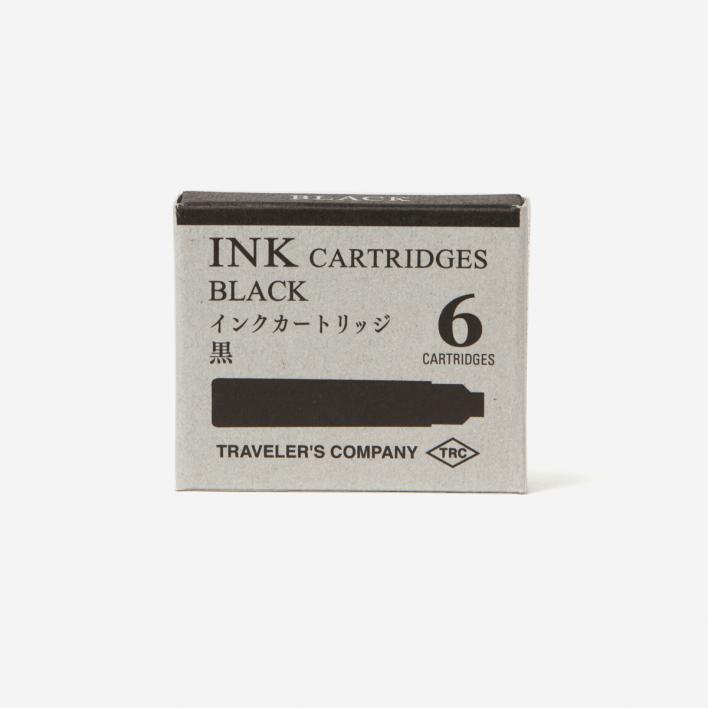 TRAVELER'S Company Tintenpatronen für Brass Fountain Pen - schwarz