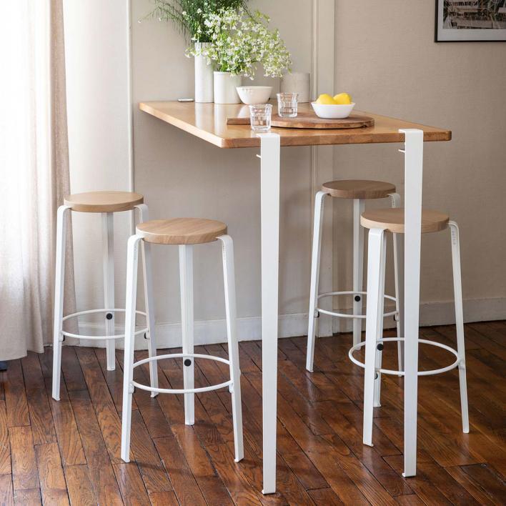 Tiptoe Bar Table Leg – 110 cm Dark Steel Dark Steel